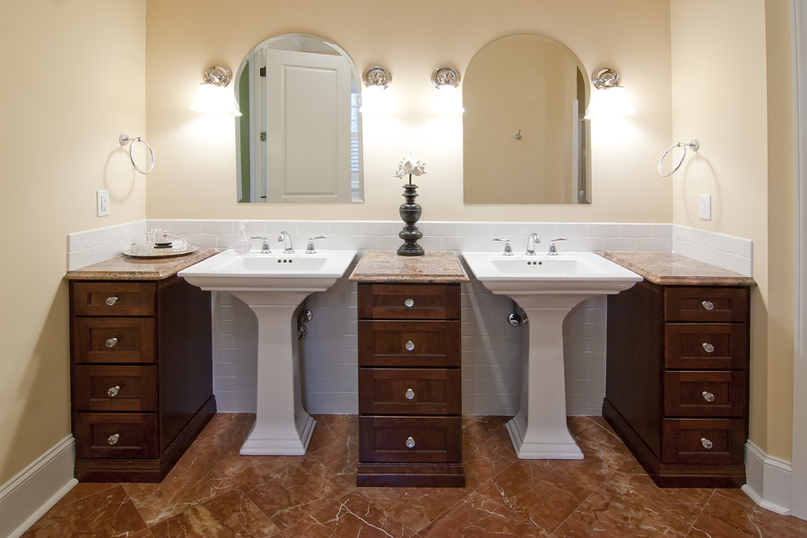 remodeled bathroom sinks bathroom sink remodel home design - Bathroom Remodel Double Sink