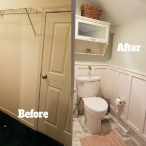 Before and After Powderroom