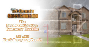 Resale Certification Contractor Checklist